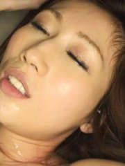 Jav Asian honey has big boobs squeezed and twat strongly fucked