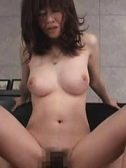 Jav Asian harlot has bra off and fine cans exposed during fuck
