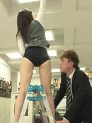 Jav Asian babe and colleagues in panty are examined by boss