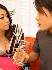Jav Asian doll rubs her clit inside thong thinking about hunk