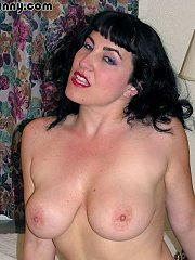 Big Tits Claudine gets freaky with her pearls